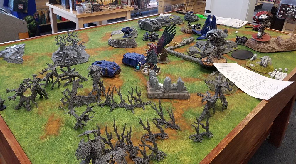Warhammer 40k Game Table 01 The Relentless Dragon Game Store In