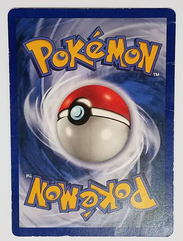 damaged pokemon card back