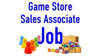 Game Store Sales Associate Job Banner