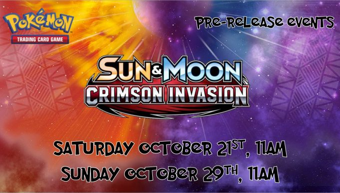 Pokemon Crimson Invasion Prerelease Banner