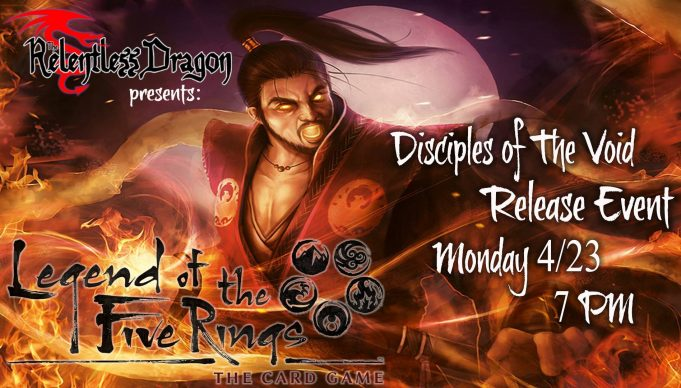 Legend of the Five Rings LCG Disciples of the Void Release Event Banner