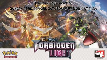 Pokemon Forbidden Light Prerelease Banner