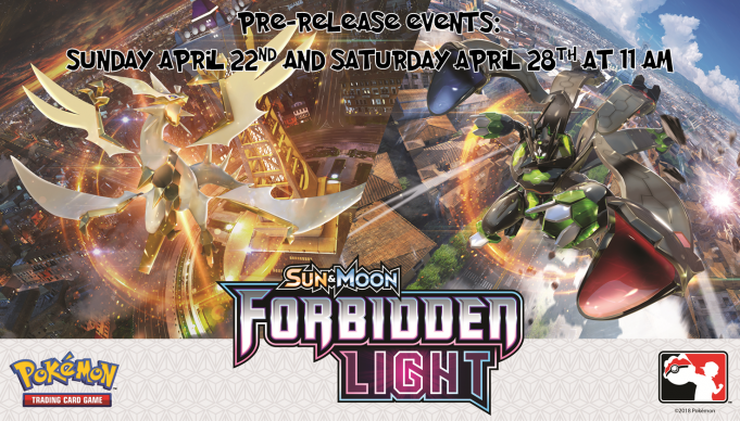 Pokemon Forbidden Light Prerelease Banner