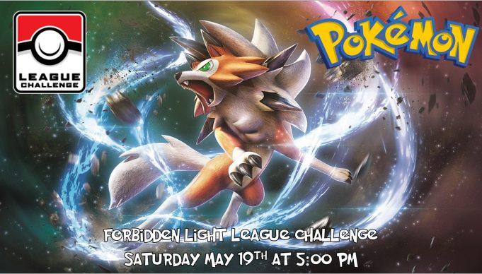 Pokemon Forbidden Light League Challenge Banner