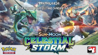Pokemon Celestial Storm Prerelease Banner