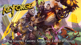 KeyForge Pre-Launch Banner