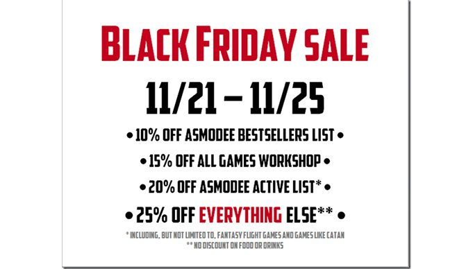 Black Friday Sale Sign - Text provided on page