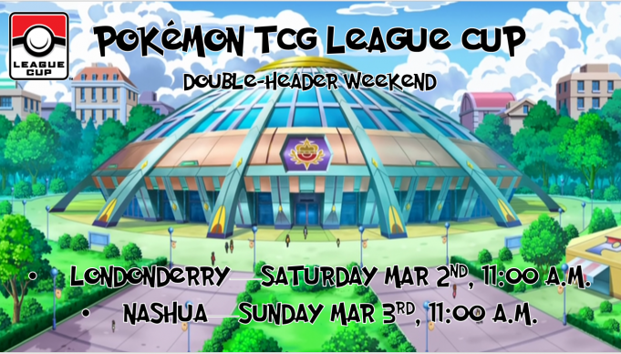 Pokemon League Cup Double Header Weekend Banner