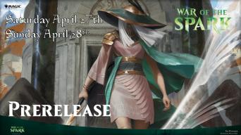 Magic War of the Spark Prerelease Banner