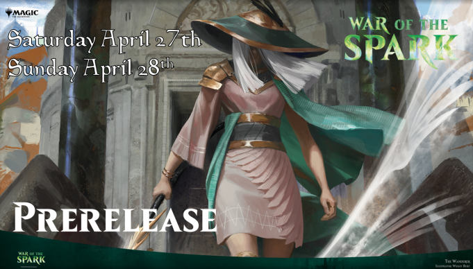 Magic War of the Spark Prerelease Banner