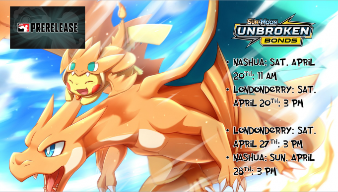 Pokemon Unbroken Bonds Prerelease Banner