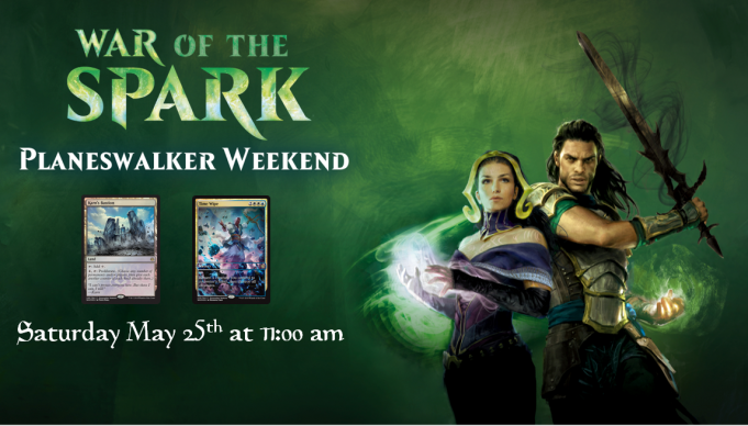 War of the Spark Planeswalker Weekend Banner