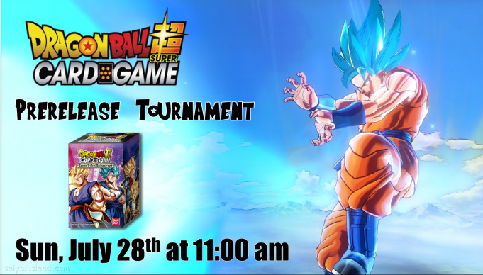 Dragon Ball Super Assault of the Saiyans Prerelease Banner