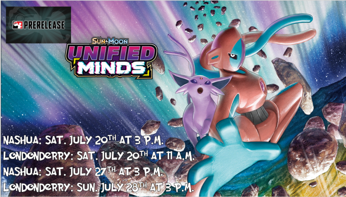 Pokemon Unified Minds Prerelease Banner