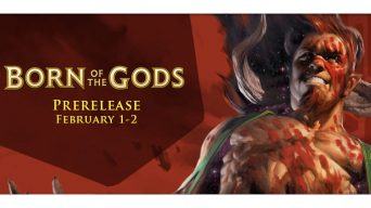 Born of the Gods Prerelease Banner