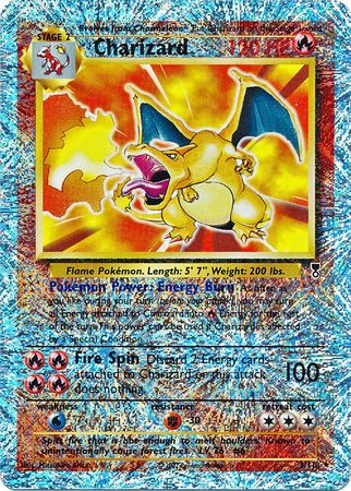 Pokemon Legendary Reverse Holo Charizard Card