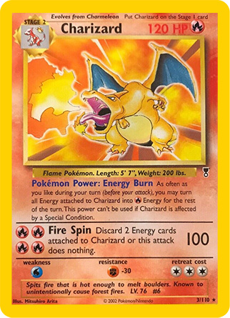 Pokemon Legendary Set Charizard Card