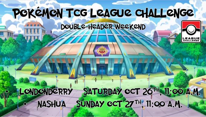 Pokemon League Challenge October 2019 Banner