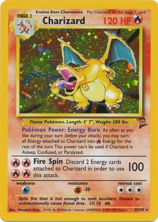 Pokemon Base Set 2 Charizard Card