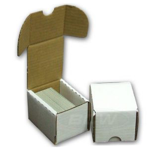 100-count BCW Cardboard Trading Card Storage Box