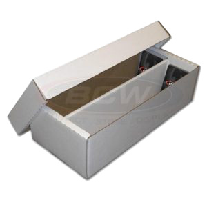 1600-count BCW Cardboard Trading Card Storage Box