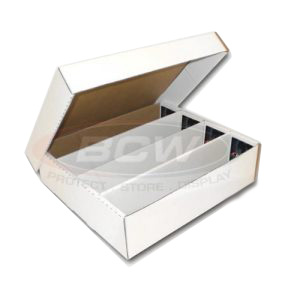 3200-count BCW Cardboard Trading Card Storage Box