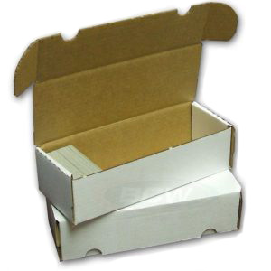 550-count BCW Cardboard Trading Card Storage Box