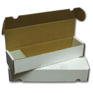 800-count 1-piece BCW Cardboard Trading Card Storage Box