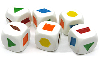 Colored Shapes Dice