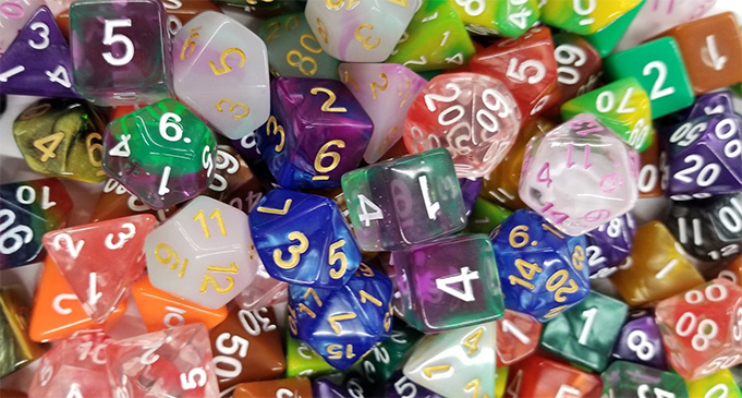 Assortment of Polyhedral Dice