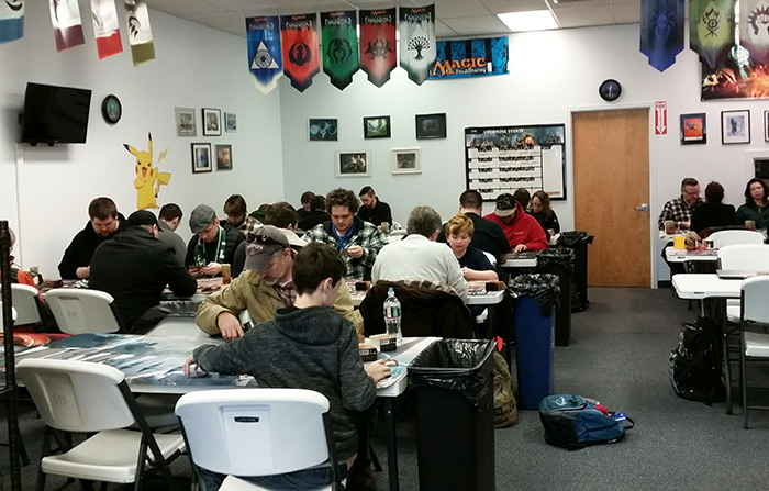 Some of our Magic: the Gathering Friday Night Magic players