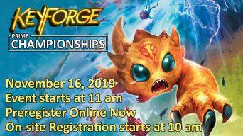 KeyForge Prime Championships Event Advertisement