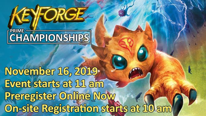 KeyForge Prime Championships Event Advertisement