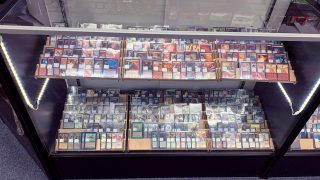 One of our four Magic: the Gathering cases, home to ~2000 premium singles