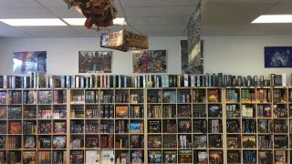 Our Main Board Game Wall with American and Euro Board Games
