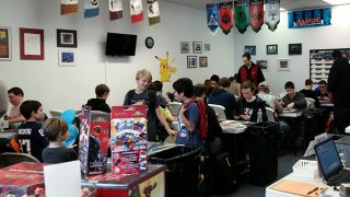 Some of the players at the Pokémon Nashua City Championship in December 2015