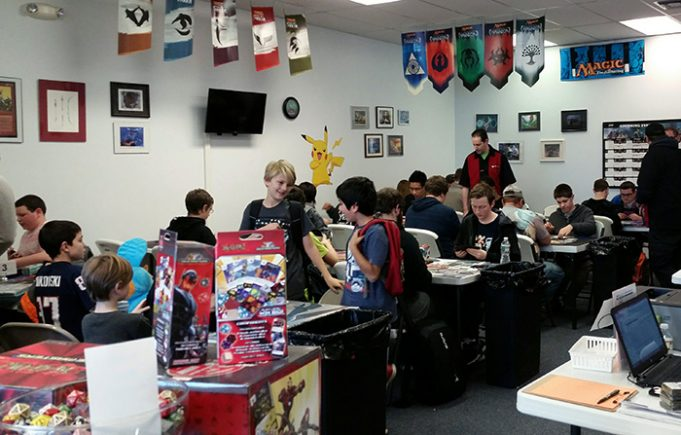 Some of the players at the Pokemon Nashua City Championship in December 2015
