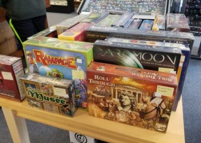A display of pre-owned games