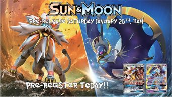 Pokemon Sun & Moon Prerelease Banner