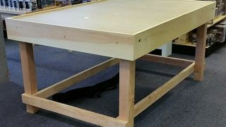 One of our wargaming tables built by some great customers (before being finished with dark stain)