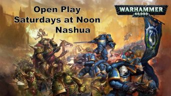 Warhammer Open Play, Saturdays at Noon in Nashua