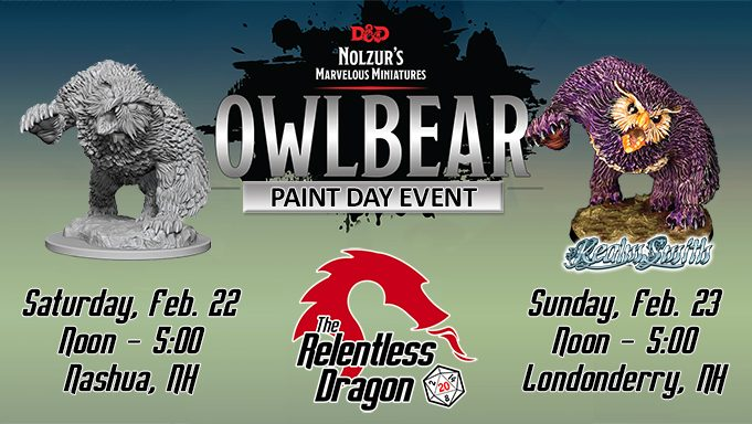 Owlbear Paint and Take Event Banner