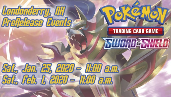 New Hampshire Pokemon Sword and Shield Prerelease Advertising Banner