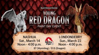 Young Red Dragon Paint and Take Event Banner