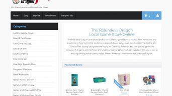Screenshot of online store site