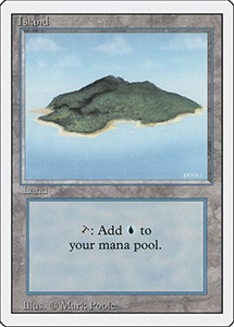 Magic: the Gathering card with white front border